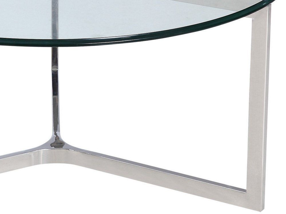 Shefford Stainless Steel And Gl Coffee Table Tap To Expand